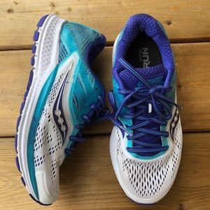 Saucony Everun Ride 10 Running Runners Sneakers 5.5 Blue